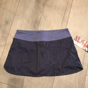 NWT lululemon run velocity skirt, 6